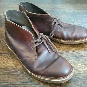 Clarks bushacre chukka beeswax boots size 9